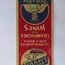 Tenner's Sea Food Restaurant- Charlotte, North Carolina 20Strike Matchbook Cover