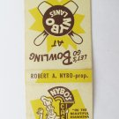 Nybo's Cafe - Red Wing, Minnesota Restaurant 20 Strike Matchbook Cover Bowling