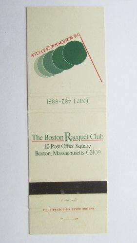 The Boston Racquet Club Massachusetts Sport Matchbook Cover 20 Strike Matchcover