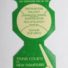 Tennis Court of New Hampshire -Tilton, NH Jewelite Sports Matchbook Match Cover