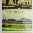 Saratoga Raceway New York Night Harness 40 Strike Horse Sports Matchbook Cover