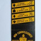 Fort Riley Kansas Spades Clubs  Vintage Military 20 Strike Matchbook Match Cover