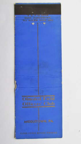 Olmsted Field Middletown Pennsylvania Vintage 20Strike Military Matchbook Cover