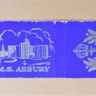 HMS Asbury Vintage UK Military Royal Navy Ship 20 Strike Matchbook Match Cover