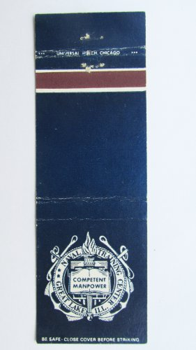 Naval Training Great Lakes Illinois Vintage Military 20 Strike Matchbook Cover