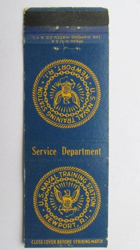 US Naval Training Newport Rhode Island RI Vintage Military 20 FS Matchbook Cover