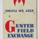 Gunter Field Alabama SEACTC Vintage 20 Strike US Military Matchbook Match Cover