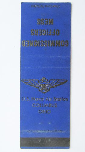 US Naval Air Station Columbus Ohio Vintage 20 Strike Military Matchbook Cover