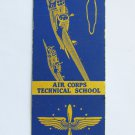 Buckley Field Colorado Air Corps Vintage 20 Strike US Military Matchbook Cover