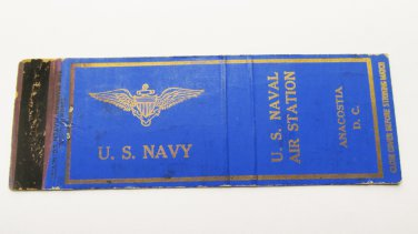US Naval Air Anacostia DC Washington Vintage 20 Strike Military Matchbook Cover