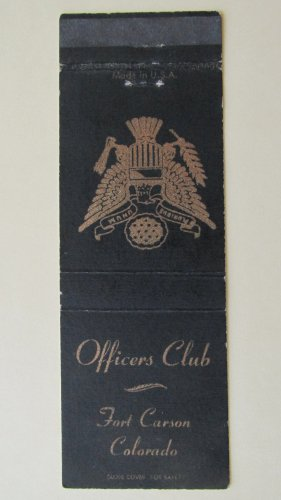 Fort Carson Colorado CO Vintage 20 Strike US Military Matchbook Cover