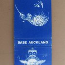 Auckland New Zealand Royal Air Force Vintage 20 Strike Military Matchbook Cover