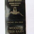 Wood's Steer Barn Restaurant near Sandusky, Ohio 20 Strike Matchbook Match Cover