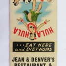 Jean & Denvers Restaurant Servicenter Cumberland Maryland 20FS Matchbook Cover