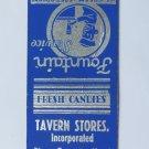 Tavern Stores Tavernier, FL Florida Keys 20 Strike Matchbook Cover Central Match