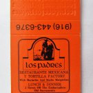 Los Padres Mexican Restaurant Old Sacramento California 20Strike Matchbook Cover