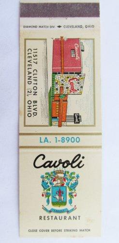 Cavoli Restaurant - Cleveland, Ohio 20 Strike Matchbook Cover Matchcover