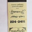 Macho's Mexican Restaurant San Diego, California 20 Strike Matchbook Match Cover