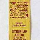 Stirr-Up Club Kissimmee Florida Restaurant 20 Strike Matchbook Cover