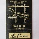 La Cocina Mexican Restaurant Buena Park California CA 20 Strike Matchbook Cover