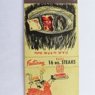 Sizzler Family Steak House Clear Lake Texas Restaurant 20 Strike Matchbook Cover