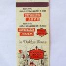 Southern Kitchen - West, East Restaurants Dallas, Texas 20 Strike Matchbook Cover