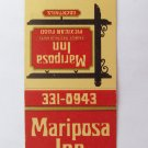 Mariposa Inn Mexican Restaurant West Covina California 20 Strike Matchbook Cover