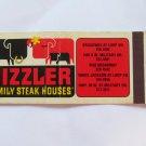 Sizzler Family Steak Houses Texas Restaurants 20 Strike Matchbook Match Cover