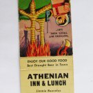 Athenian Inn & Lunch Seattle (Washington) 20 Strike Restaurant Matchbook Cover