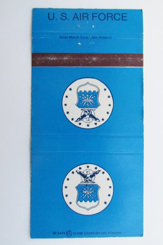 U.S. Air Force 30 Strike FE Warren AFB Billeting (Back) Military Matchbook Cover