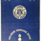 Holabird Ordnance Depot Baltimore Maryland 40 Strike US Military Matchbook Cover