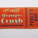 Orange Crush AD Pauly's Bar Chanhassen Minnesota Restaurant 20FS Matchbook Cover