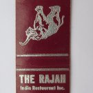 The Rajah India Restaurant - New York, NY 20 Strike Matchbook Cover Matchcover