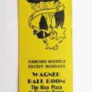 Wagner Ball Room - Philadelphia, Pennsylvania Dancing 20 Strike Matchbook Cover