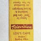 Lou's Cave- Detroit, Michigan Restaurant 20 Strike Matchbook Cover Bowling Alley