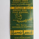Harris Lunch - Ponca City, Oklahoma /Kansas Restaurant 20 Strike Matchbook Cover