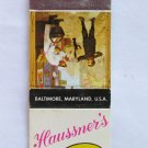 Haussner's Art Dining - Baltimore, Maryland Restaurant 20 Strike Matchbook Cover