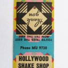 Hollywood Shake Shop - Portland, Oregon Restaurant 20 Strike Matchbook Cover OR