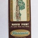 Flanagan's Restaurant Drive-In Portland, Oregon 20 Strike Matchbook Cover Map OR