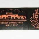 Polly's - Albuquerque, New Mexico Restaurant 20 Strike Matchbook Match Cover NM