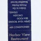 Harbor View Restaurant - Carolina Beach, North Carolina 20Strike Matchbook Cover