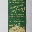 White Swan Tavern- Waynesboro, Pennsylvania Restaurant 20 Strike Matchbook Cover