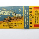 The Covered Wagon - Minneapolis, Minnesota Restaurant 20 Strike Matchbook Cover