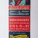 Bookbinders Sea Food House - Philadelphia PA Restaurant 20Strike Matchbook Cover