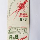 A & B Lobster House - Key West, Florida Restaurant 20 Strike Matchbook Cover -FL