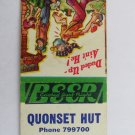 Quonset Hut - Oklahoma City, OK Restaurant 20 Strike Matchbook Cover - Hillbilly