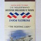 Naval & Maritime Museum Charleston, SC USS Yorktown 30 Strike Matchbook Cover