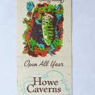 Howe Caverns - NY Route 7 near Cobleskill, New York 20 Strike Matchbook Cover