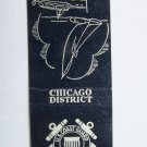 US Coast Guard - Chicago District (Illinois) 20 Strike Military Matchbook Cover