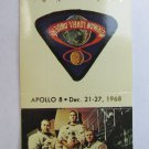 Apollo 8 Commemorative Series 30 Strike Matchbook Cover Space Astronauts Lovell